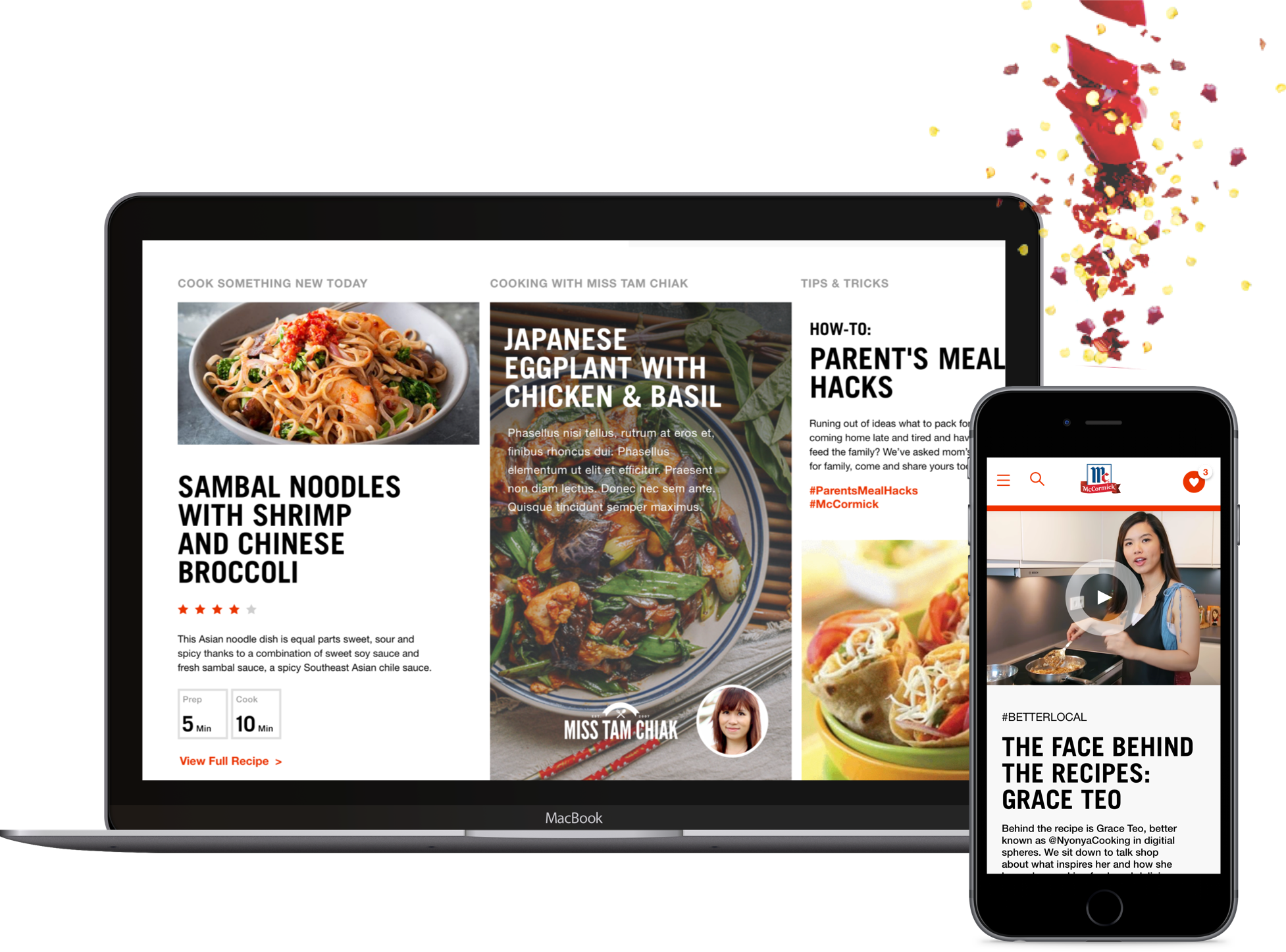 Screen of the McCormick SEA website with localised content and influencer collaborations